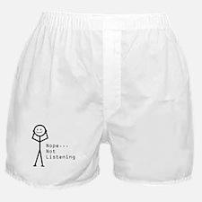 Selective Hearing Boxer Shorts
