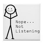 Selective Hearing Tile Coaster
