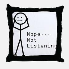 Selective Hearing Throw Pillow