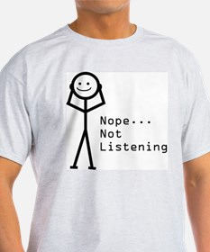 Selective Hearing Ash Grey T-Shirt