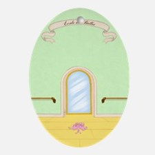 Ecole de Ballet Studio journal Oval Ornament
