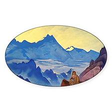 Buddha monk meditating on mountains Decal