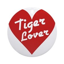 Tiger Lover Round Ornament