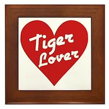 Tiger Lover Framed Tile