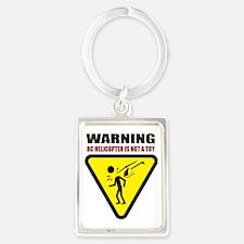 3-heli-caution Portrait Keychain