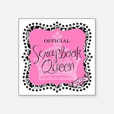 "queen badge-mid Square Sticker 3"" x 3"""