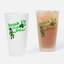 drink up beetchizBRIGHT Drinking Glass