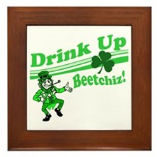 drink up beetchizBRIGHT Framed Tile