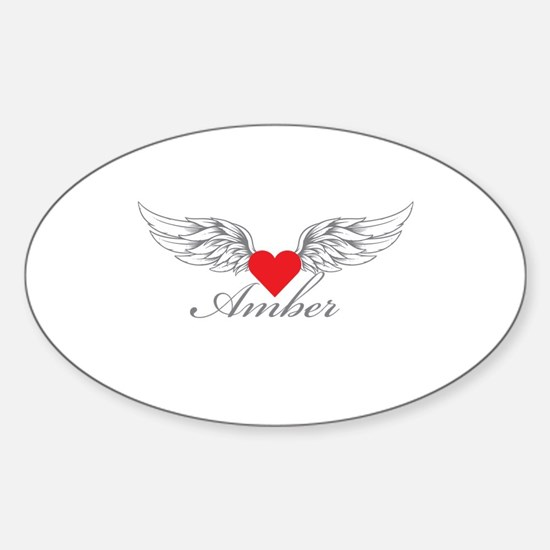 Angel Wings Amber Decal