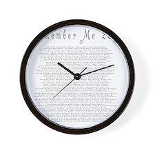 tshirtback Wall Clock
