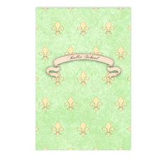 Green Fleur de lis ballet Postcards (Package of 8)