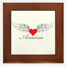 Angel Wings Amina Framed Tile