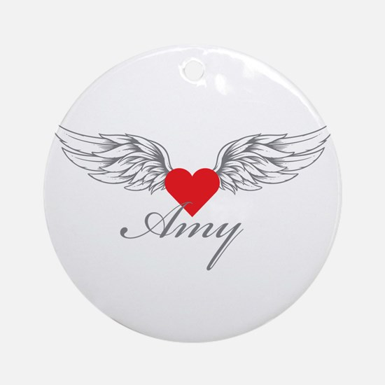 Angel Wings Amy Ornament (Round)