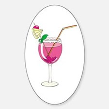 Pink Cocktail Oval Decal
