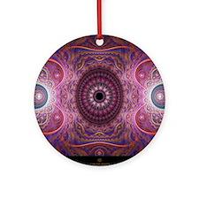 fractal_mathematics_math Round Ornament