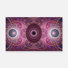 fractal_mathematics_math Rectangle Car Magnet