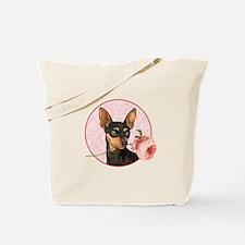 Min Pin Rose Tote Bag
