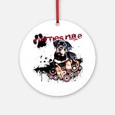 Puppy Rottweiler Round Ornament