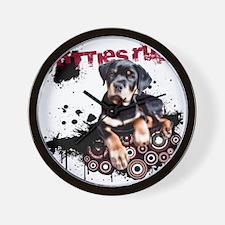 Puppy Rottweiler Wall Clock
