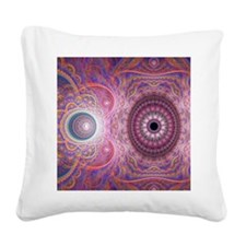 fractal_mathematics_math_4 Square Canvas Pillow