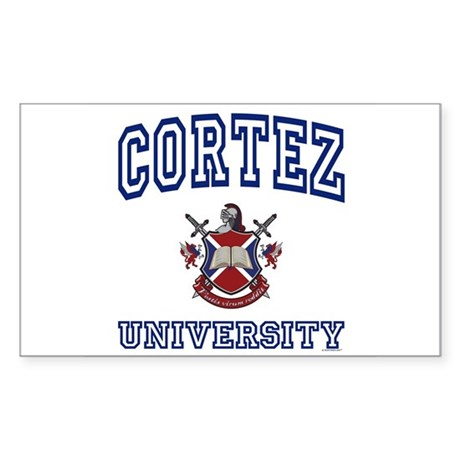 CORTEZ University Rectangle Sticker