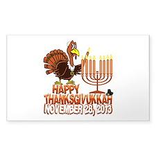 Happy Thanksgivukkah Thankgiving Hanukkah Decal