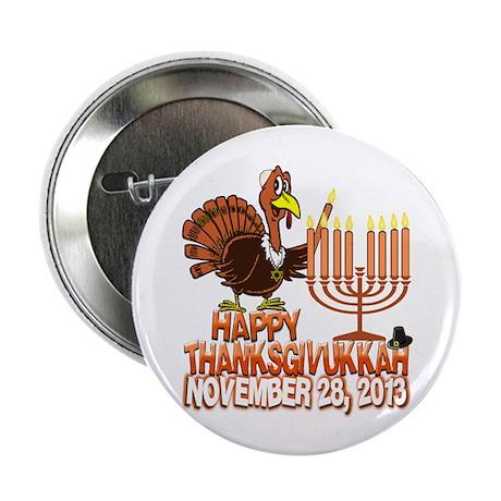 "Happy Thanksgivukkah Thankgiving Hanukkah 2.25"" Bu"