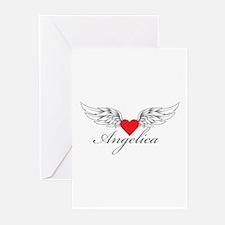 Angel Wings Angelica Greeting Cards