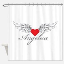 Angel Wings Angelica Shower Curtain