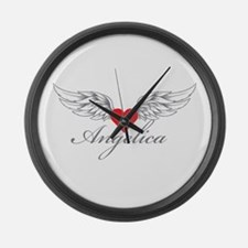 Angel Wings Angelica Large Wall Clock