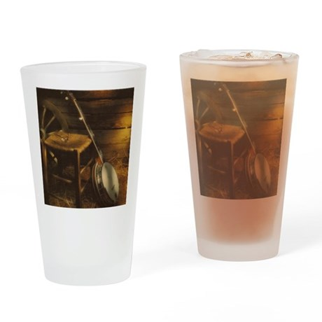 Banjo Picture Larger Drinking Glass