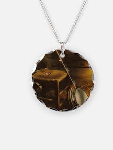 Banjo Picture Larger Necklace