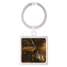Banjo Picture Larger Square Keychain