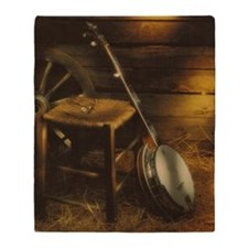 Banjo Picture Larger Throw Blanket