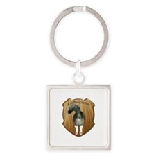 Funny CatAssTrophy Square Keychain