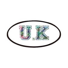 UK typography Patches