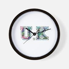 UK typography Wall Clock