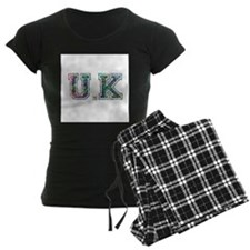 UK typography pajamas