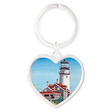 Cape Cod Light mp Heart Keychain