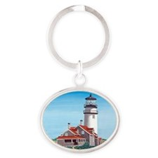 Cape Cod Light mp Oval Keychain