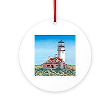 Cape Cod Light mp Round Ornament