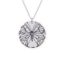 butterfly coloring Necklace