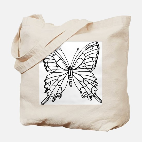 butterfly coloring Tote Bag