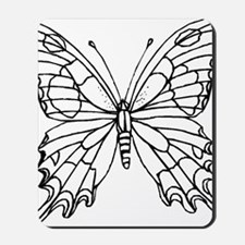 butterfly coloring Mousepad