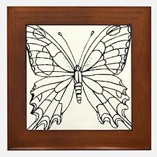 butterfly coloring Framed Tile