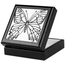 butterfly coloring Keepsake Box