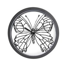 butterfly coloring Wall Clock