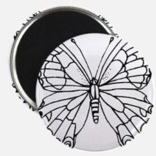 butterfly coloring Magnet