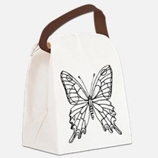 butterfly coloring Canvas Lunch Bag