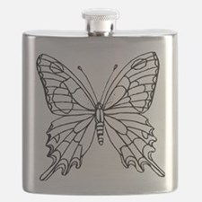 butterfly coloring Flask